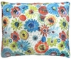 Elsa Blue Flowers Outdoor Pillow