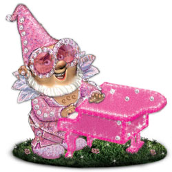 Elton w/Piano Collectible Gnome Statue - Click to enlarge