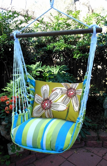 Fabulous Flowers Hammock Chair Swing Set - Click to enlarge