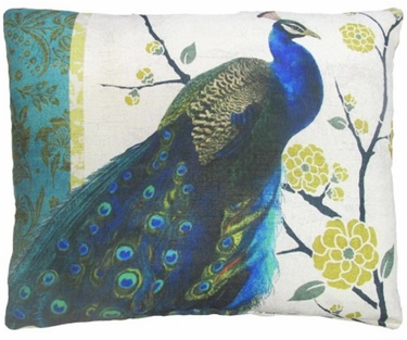 Fabulous Peacock Outdoor Pillow - Click to enlarge