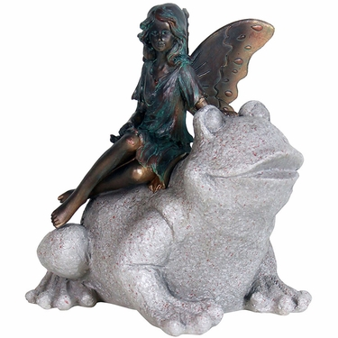 Fairy on Frog Statue - Click to enlarge