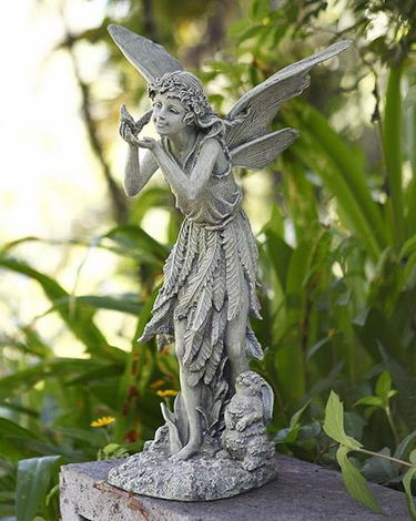 Fairy Statue w/ Bird & Rabbit - Click to enlarge