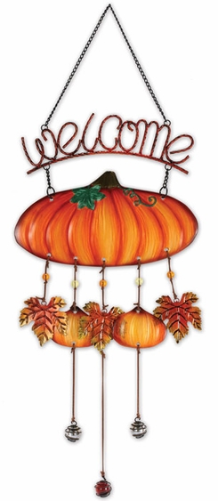 Fall Pumpkin Welcome Chime - Click to enlarge