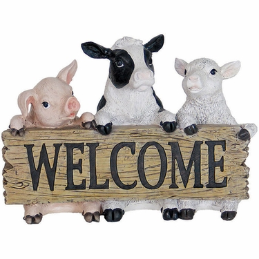 Farm Animals Welcome Statue - Click to enlarge