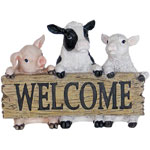 Farm Animals Welcome Statue