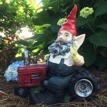 Farmer Gnome on Tractor - Click to enlarge