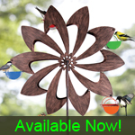Ferris Wheel Bird Feeder - Bronze Pinwheel
