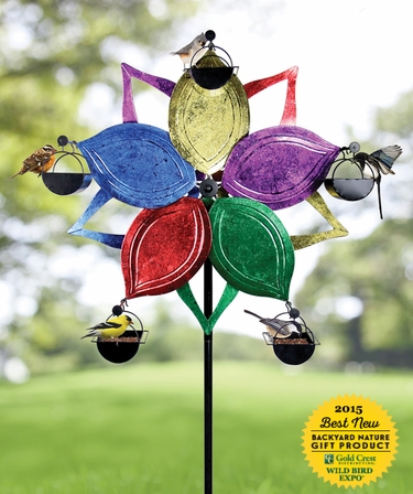Ferris Wheel Bird Feeder - Multi-Color Flower - Click to enlarge
