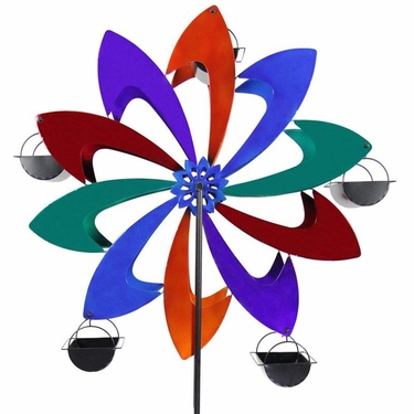Ferris Wheel Bird Feeder - Multicolor Pinwheel - Click to enlarge