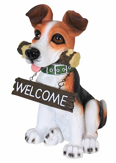 Fetching Dog w/Welcome Sign Combo - Click to enlarge