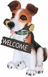 Fetching Dog w/Welcome Sign Combo