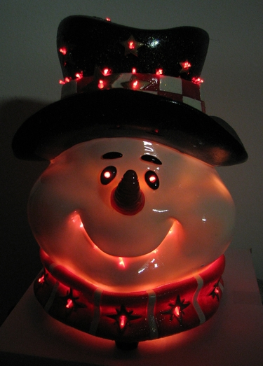 fiber optic christmas snowman head - Fiber Optic Snowman Christmas Decorations