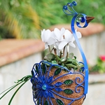Filigree Peacock Planter