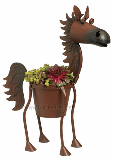 Fire Ball the Bay Horse Planter - Click to enlarge