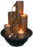 Fire & Water Candle Fountain