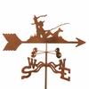 Fisherman with Dog Weathervane