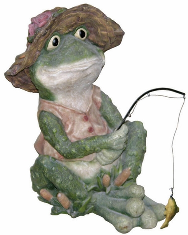 Fishing Frog Statuary - Click to enlarge