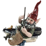 Fishing Gnome on Boat