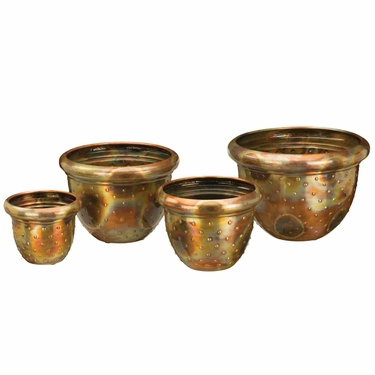 Flamed Dots Nesting Planters (Set of 4) - Click to enlarge