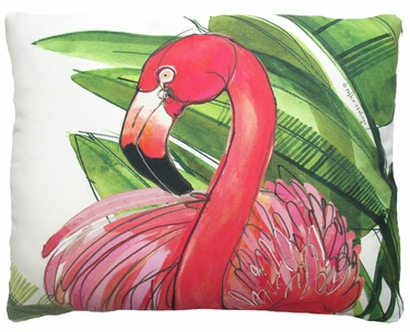 Flamingo Pink Outdoor Pillow - Click to enlarge