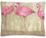 Flamingo Trio Outdoor Pillow