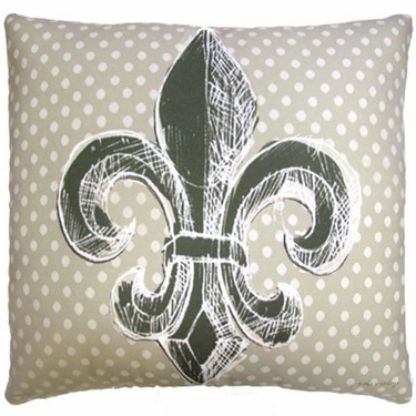 Fleur de Lis Outdoor Pillow - Click to enlarge