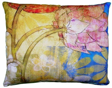 Floral Menagerie Outdoor Pillow - Click to enlarge
