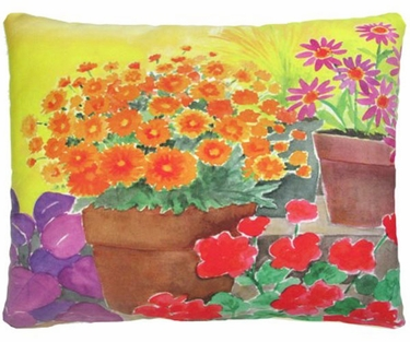 Flower Pots Outdoor Pillow - Click to enlarge