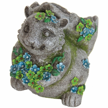 Flower Squirrel Planter - Click to enlarge