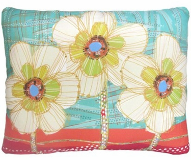 Flower Trio Outdoor Pillow - Click to enlarge