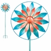 "19"" Flower Wheel Wind Spinner"