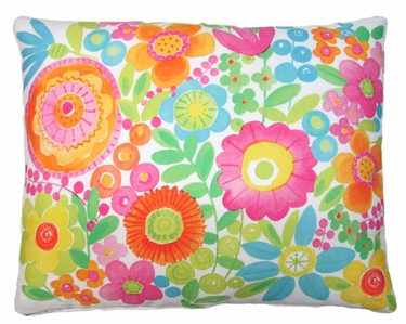 Flowers All  Over Outdoor Pillow - Click to enlarge