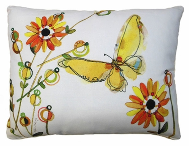 Fluttering Butterfly Outdoor Pillow - Click to enlarge