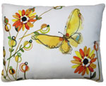 Fluttering Butterfly Outdoor Pillow