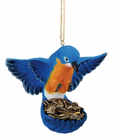 Flying Bird Feeder - Bluebird - Click to enlarge