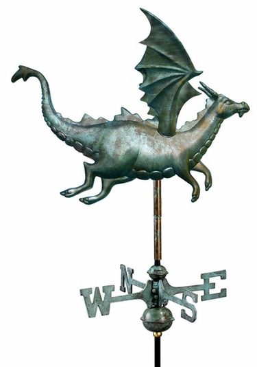 Flying Dragon Weathervane - Click to enlarge