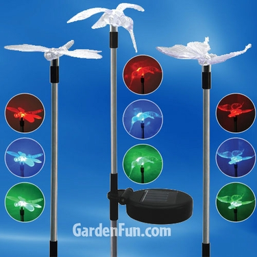 Flying Friends Solar Garden Stakes (Set of 3) - Click to enlarge