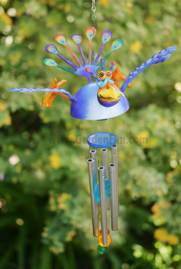 Flying Peacock Wind Chime - Click to enlarge