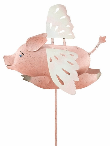 Flying Pig Garden Stake - Click to enlarge