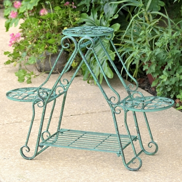 Folding 3 Plant Pot Stand - Verdi Green - Click to enlarge