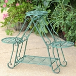 Folding 3 Plant Pot Stand - Verdi Green