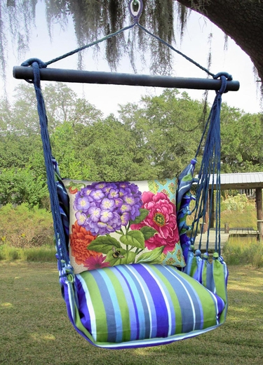 Folsom Bold Blossom 1 Hammock Chair Swing Set - Click to enlarge
