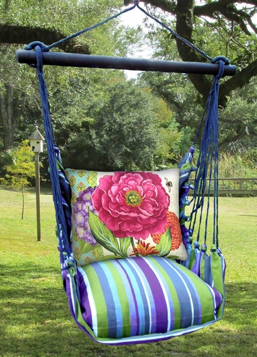 Folsom Bold Blossom 2 Hammock Chair Swing Set - Click to enlarge