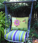 Folsom Hummingbird w/Flower Hammock Chair Swing Set