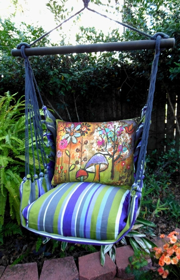 Folsom Impressions Mushroom Hammock Chair Swing Set - Click to enlarge