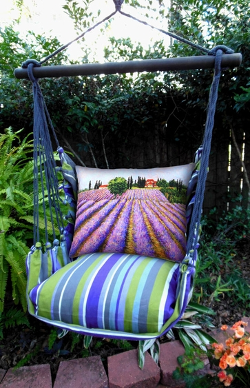 Folsom Lavender Fields Hammock Chair Swing Set - Click to enlarge