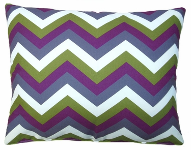 Folsom Purple Chevron Outdoor Pillow - Click to enlarge