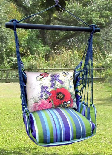 Folsom Red Poppies Hammock Chair Swing Set - Click to enlarge