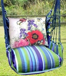Folsom Red Poppies Hammock Chair Swing Set