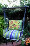 Folsom Stripe Prism Garden Hammock Chair Swing Set